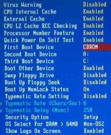 At ændre i BIOS