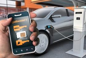 Bilnøglen på smartphone