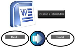 Oversætte dokumenter og regneark