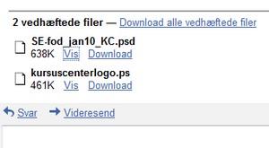 Flere filformater til Gmail