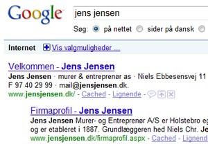 Fjern dig selv fra Google