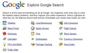 Hjælp til søgning i Google