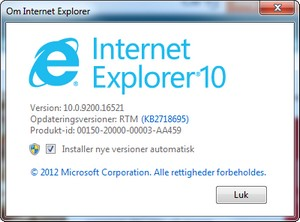 Internet Explorer 10 til Windows 7