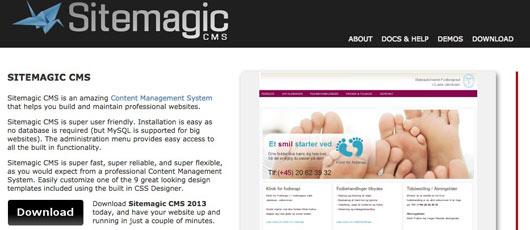 Gratis CMS kursus: Sitemagic
