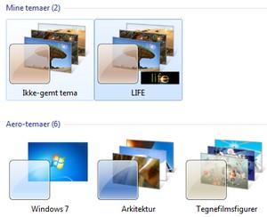 Nye gratis temaer til Windows 7