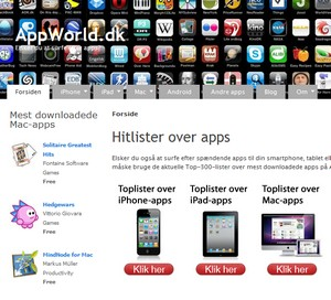 Hitliste over apps