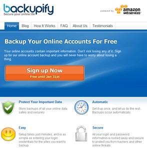Backup af Gmail og Facebook