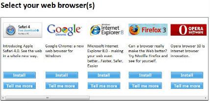 Windows 7 browser show.