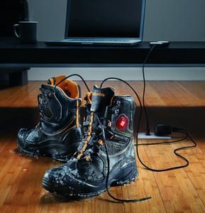 Varm støvlerne via computeren