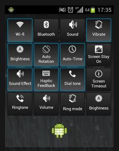 Kontrolpanel til Android