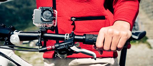 Action kamera med på sommerferien