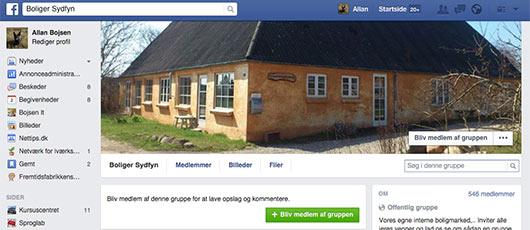 Find din bolig på Facebook