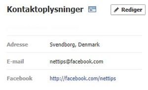 Facebook e-mailadresse