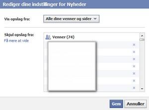 Hvad laver vennerne i Facebook?