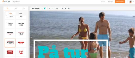 Nem og gratis videoredigering med FlexClip