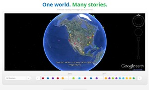 Google Earth – 1 milliard gange