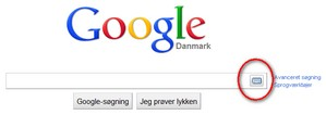 Tastaturet i Google