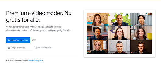 Google Meet gratis for alle
