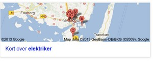 Google Places fuskere