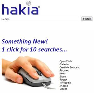 Multisøgning via Hakia