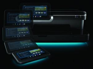 HP printer med mobil farveskærm