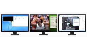 Forbedret understøttelse af flere skærme i Windows 8.