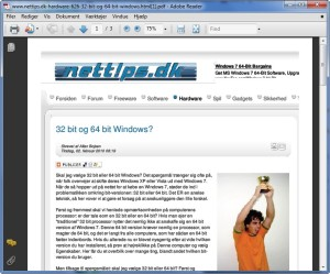 Hjemmesider i PDF