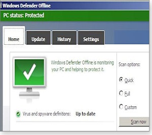 Gratis PC rens. Windows Defender Offline
